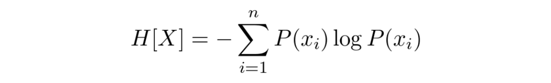 entropy of a discrete random variable