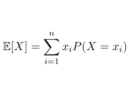 expected value of a discrete random variable